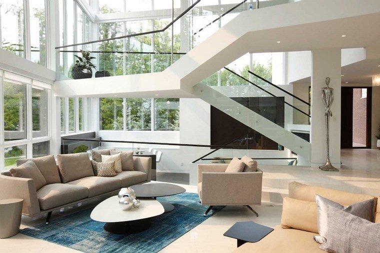 imágenes de salones alfombra azul ideas