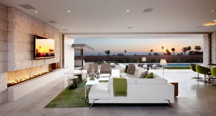 imgenes de salones amplios alfombra verde ideas