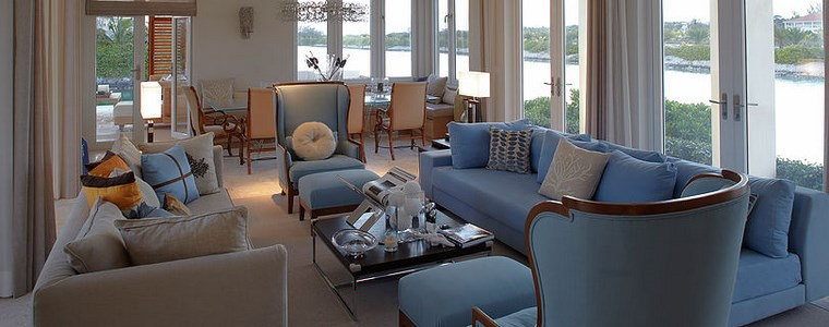 imagenes salones muebles azules ideas