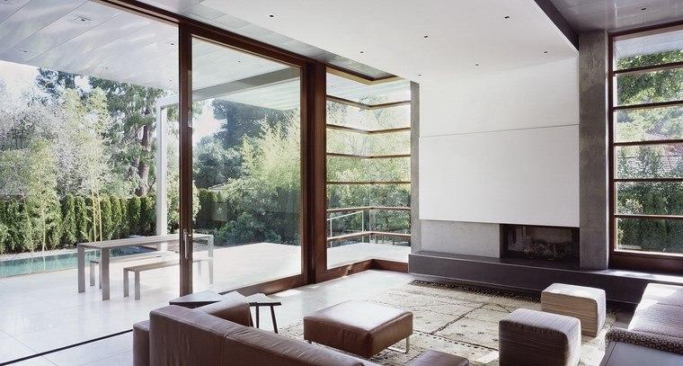 imagenes salones muebles simples chimenea ideas