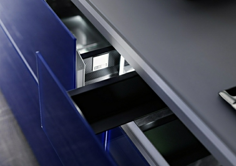 innovación cocina sistema moderna azul ideas