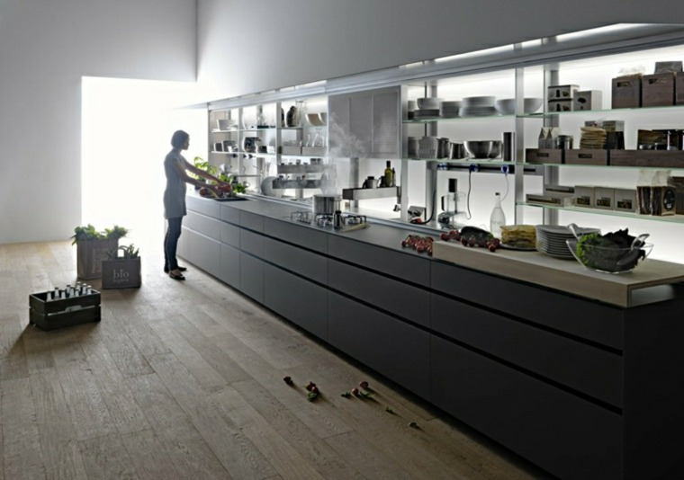 innovacion cocina suelo laminado negra ideas