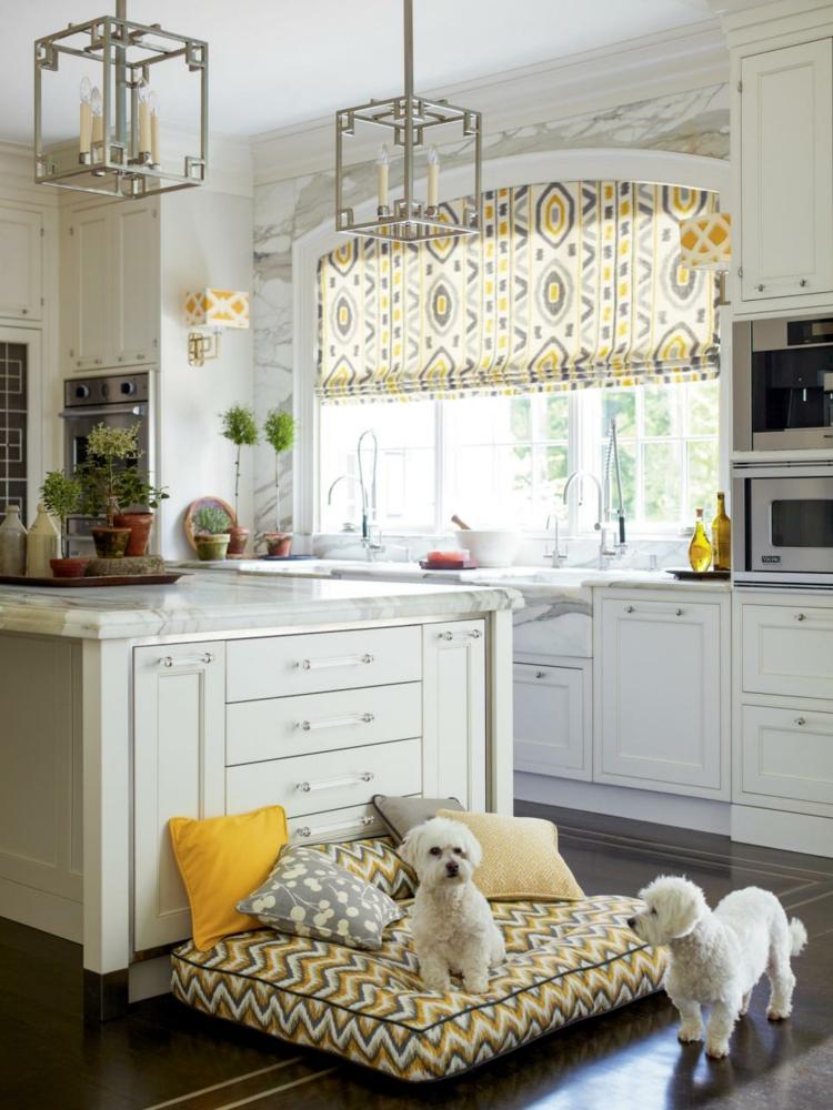 interiores casas de campo perros blanco alfombras