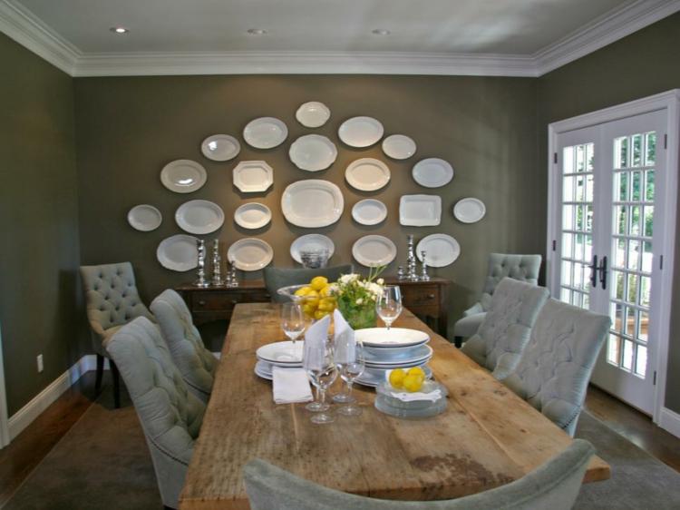 interiores casas de campo soluciones comedor platos