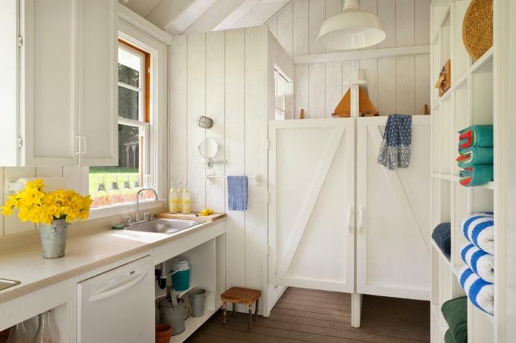 interiores casas de campo soluciones diseño macetas amarillo