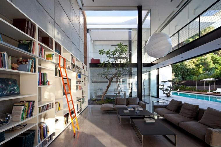 interiores diseño moderno pared cemento