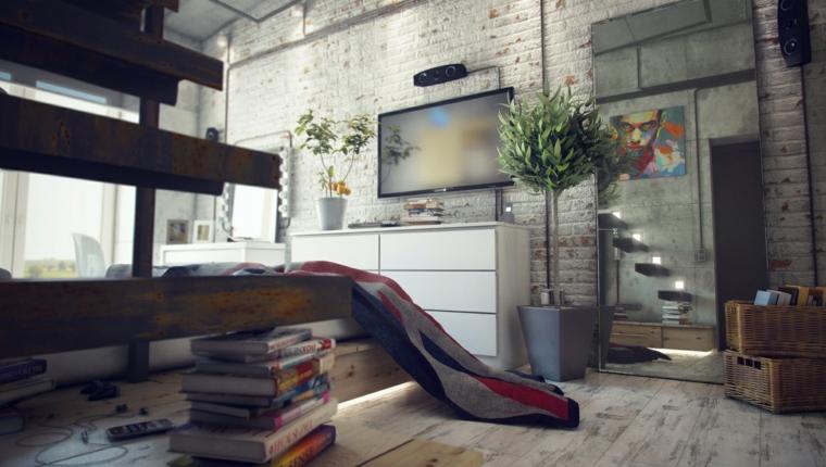 Estilo industrial - una decoración joven y urbana -