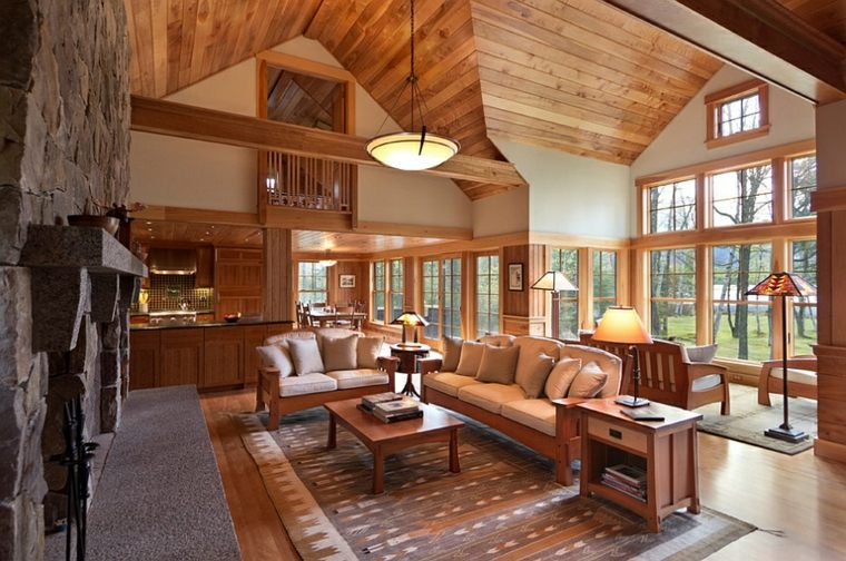 interiores lujosos estilo rustico
