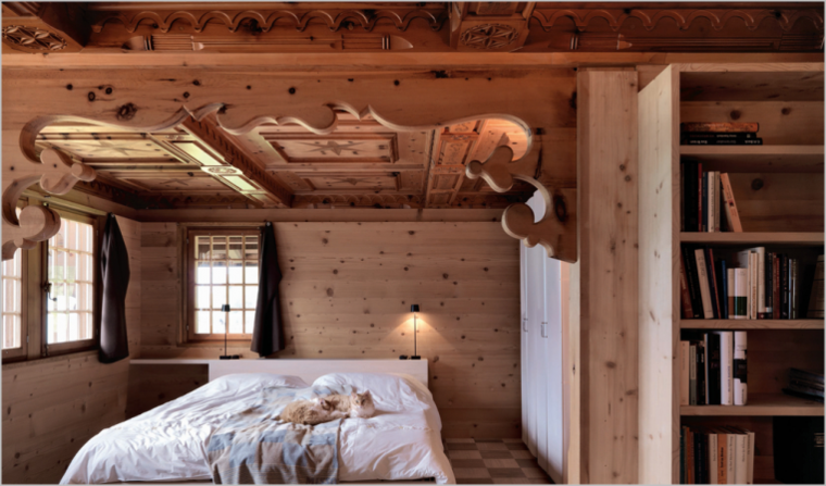 interiores maderas rústicas talladas