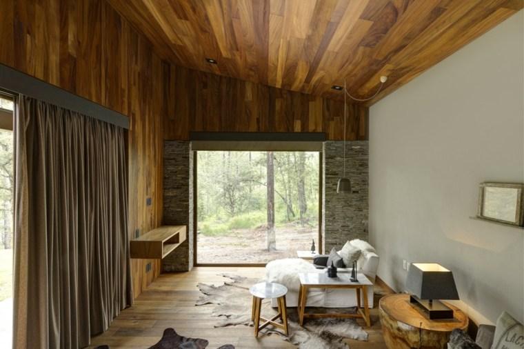 interiores modernos aspecto rústico