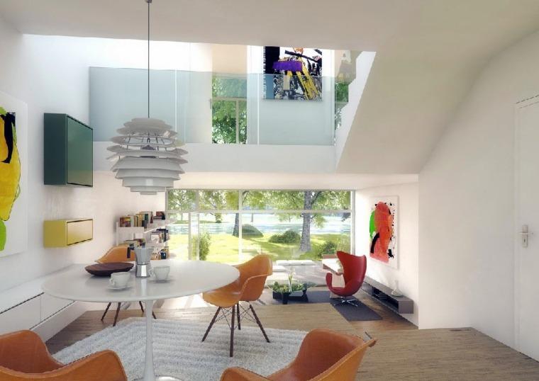 interiores modernos decorados colores vivos