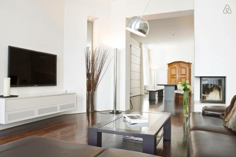 interiores modernos despejados minimalistas