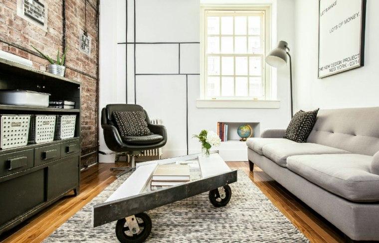 interiores modernos mesilla baja ruedas
