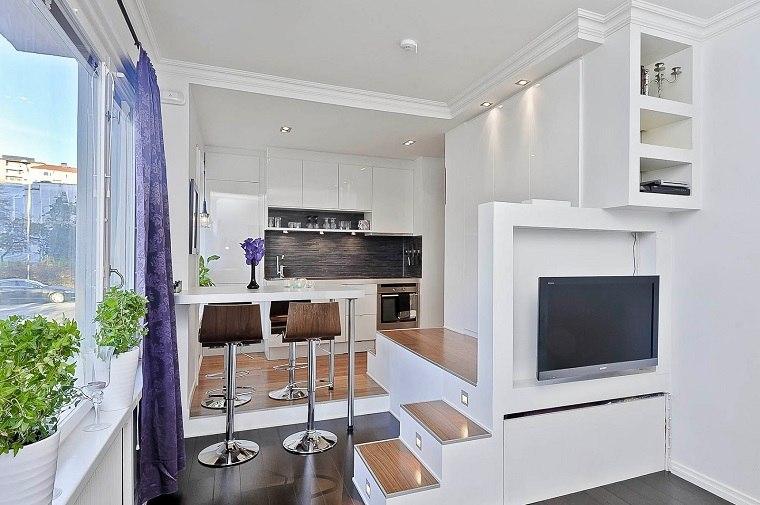 interiores modernos espacio reducido
