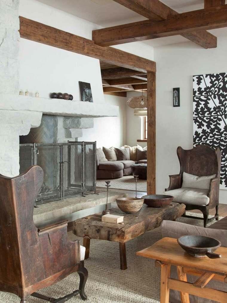 Maderas rusticas para decorar interiores - 38 ideas. -