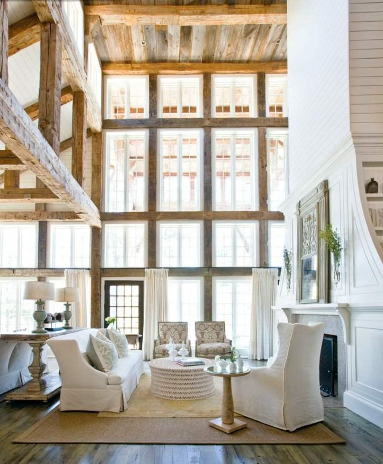 interiores modernos vigas madera natuiral