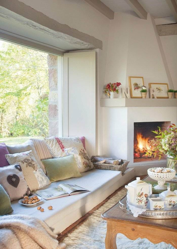 invierno decoracion salones chimeneas decorado cuadros