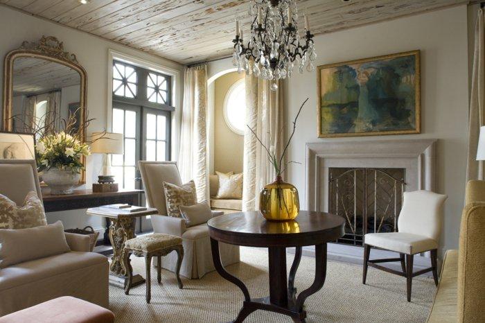 invierno decoracion salones dorados cuadros jarron