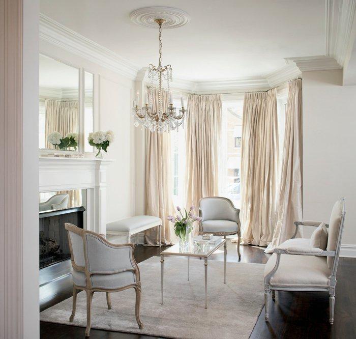 invierno decoracion salones estilos cortinas dorados