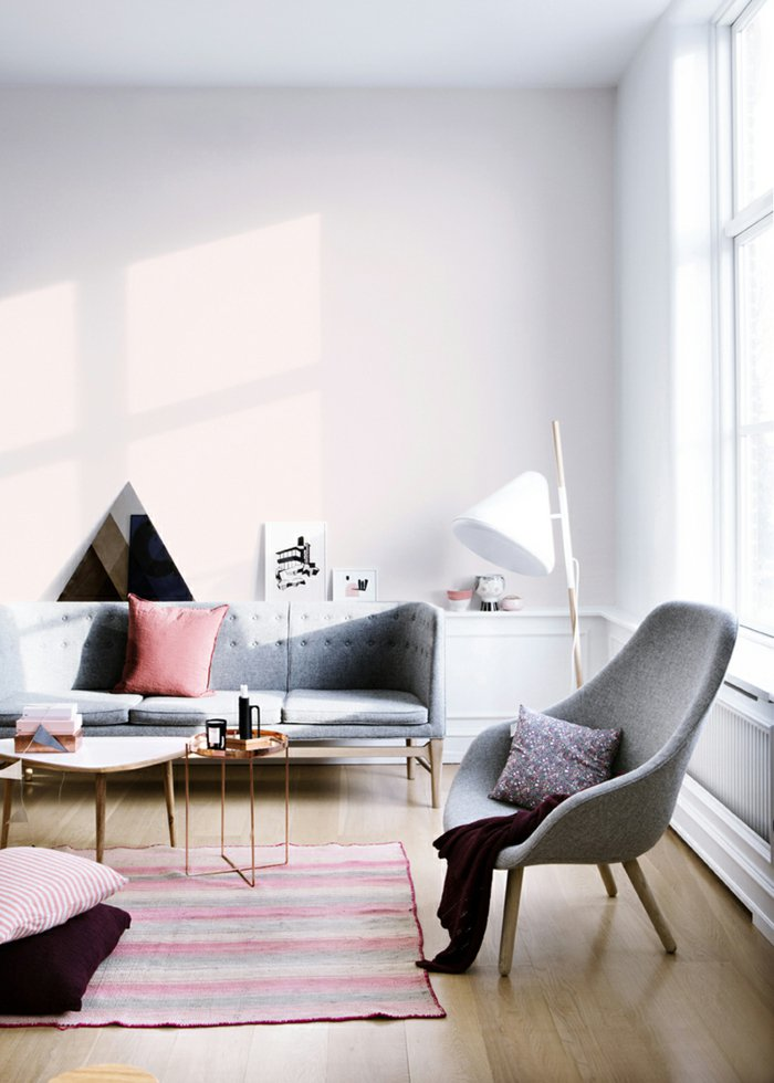 invierno decoracion salones estilos rustico sillas grises