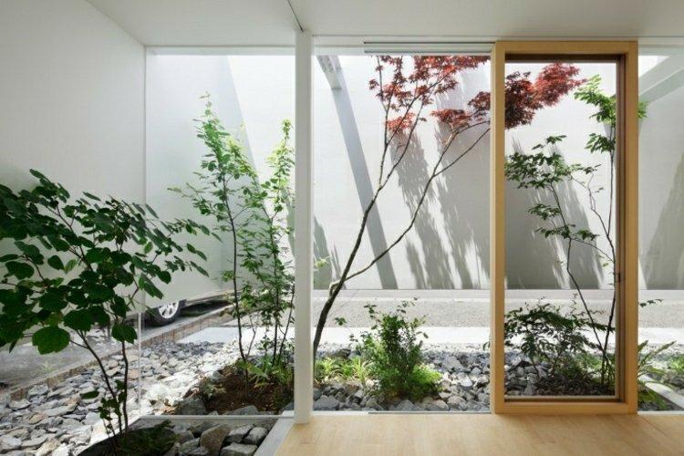 jardin japones ideas detalles interiores muro