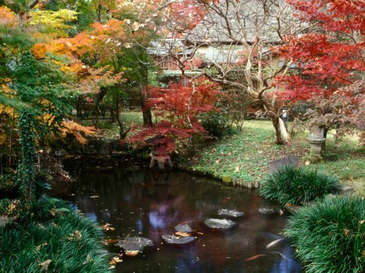 jardin japones ideas detalles verdes lagos hojas