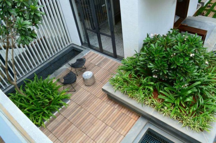 existen algunos pequeos trucos que les sern muy tiles a la hora de decorar los patios y terrazas veremos qu hacer para ampliar los espacios ms - Jardines Pequeos