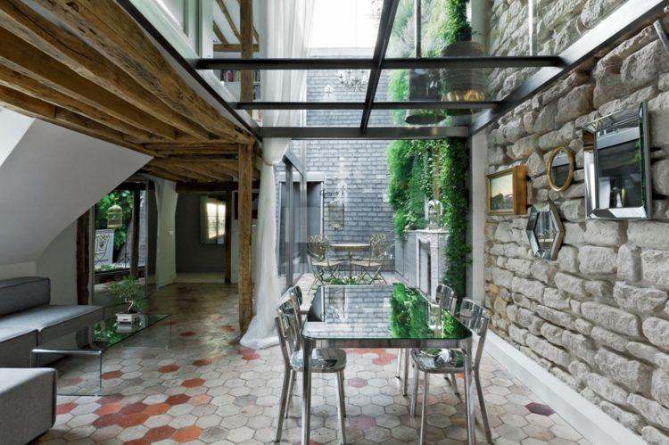 jardin pequeno muebles plata comidas ideas