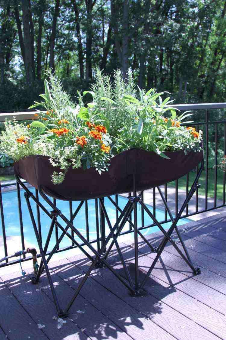 jardinera moderna patas flexibles