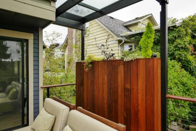 jardineras para terrazas diseños vertical moderna