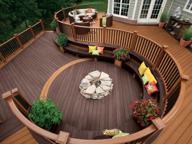 jardineras para terrazas onduladas maderas lajas
