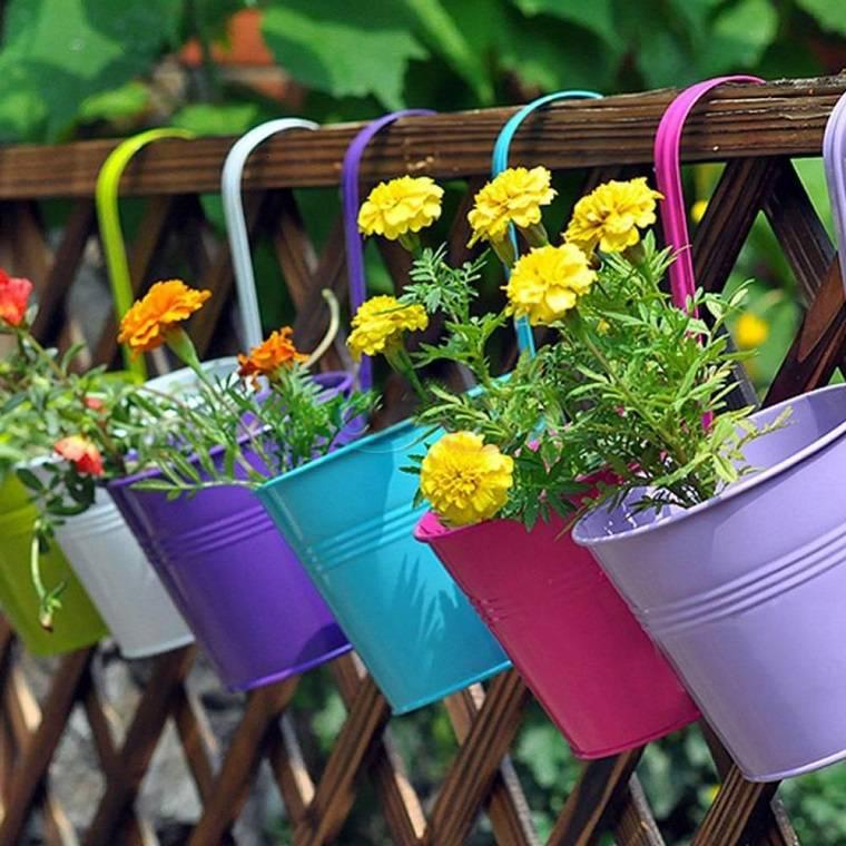 jardineras colgantes valla terraza