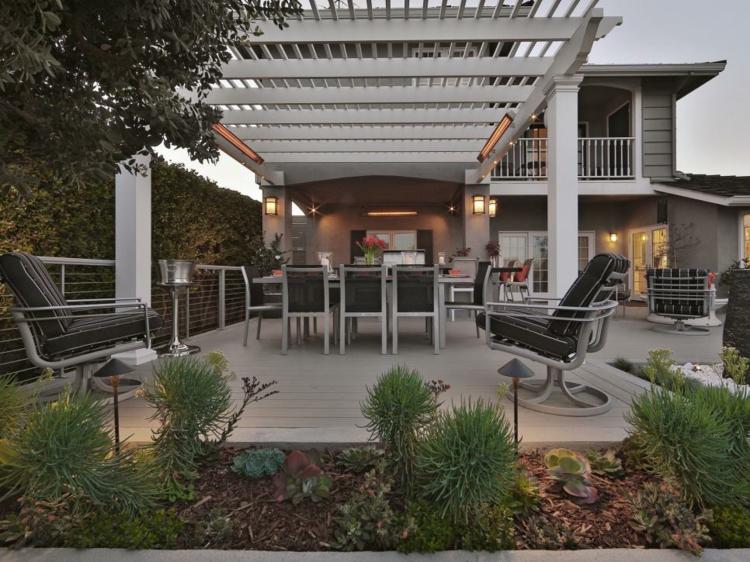 jardines exteriores casas diseños sillones moderna