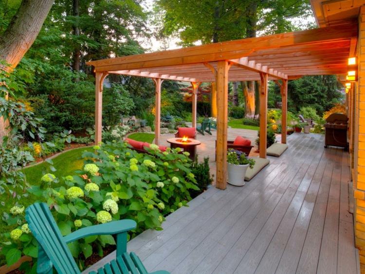 jardines exteriores casas diseños flores