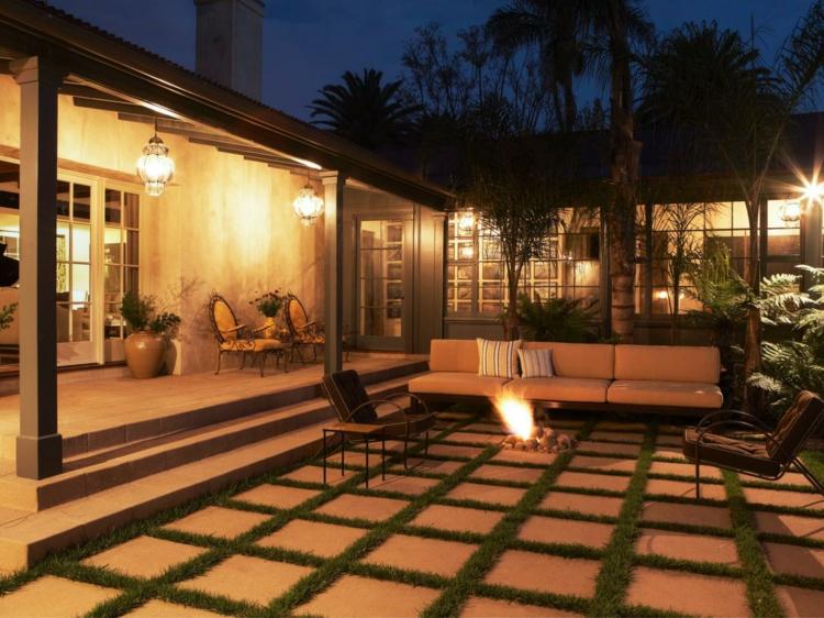 jardines fuego decorado salientes bajos cuadros