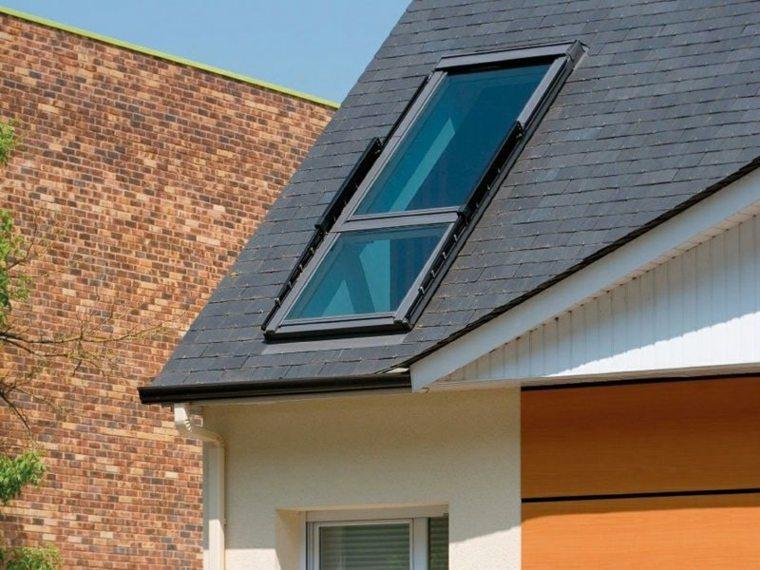ventana casa tejado tejas negras ideas