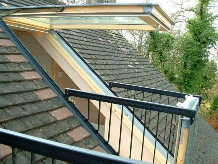 ventana tejas balcon opciones atico ideas