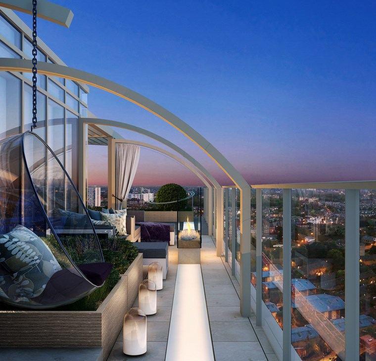 lámparas iluminacion exterior balcon LED ideas