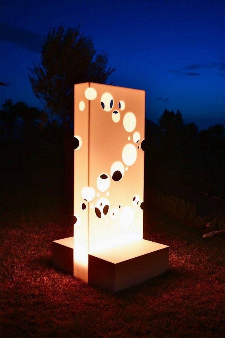 lámparas iluminacion exterior escultura preciosa ideas