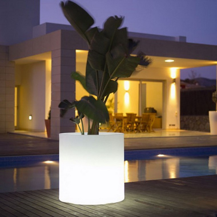 lamapras iluminacion exterior maceta grande ideas