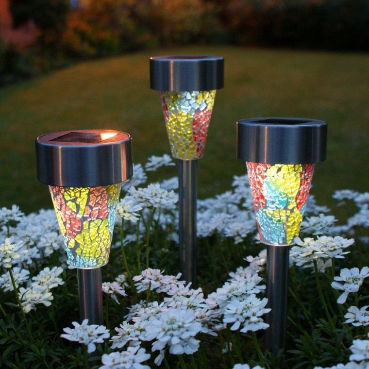 lamapras iluminacion exterior pequenas coloridas ideas