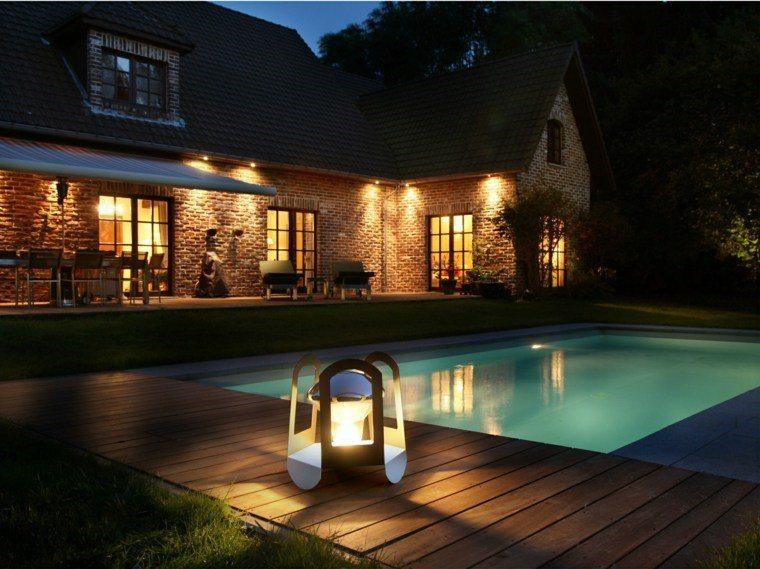 lamapras iluminacion exterior piscina grande ideas
