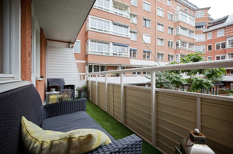 Plantas diseño y decorado en la ubicación de balcones. -