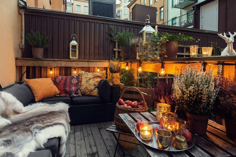 plantas perfectas balcon iluminacion romantica ideas
