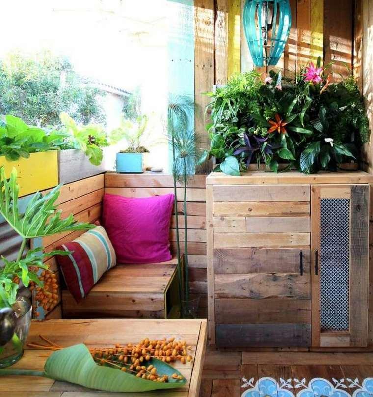 plantas perfectas balcon maceta grande madera ideas