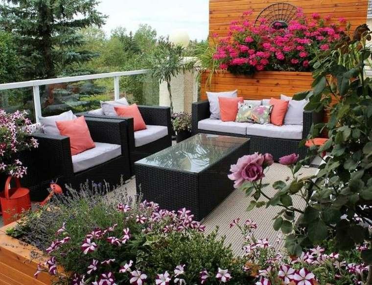 plantas perfectas balcon sofas macetas ideas