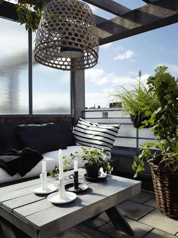 plantas perfectas balcon velas blancas ideas