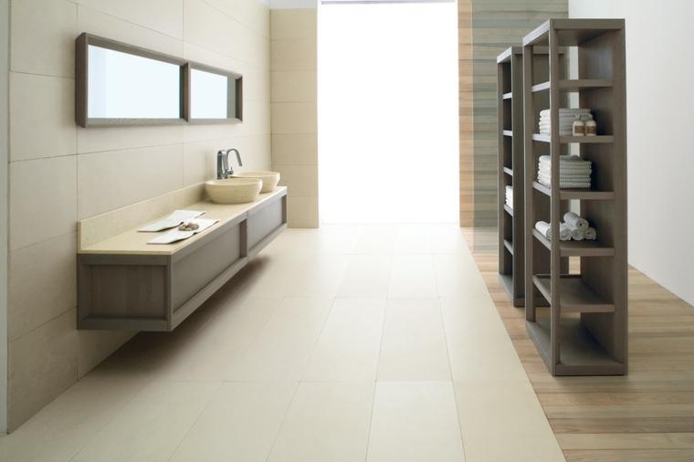 lavabo marron claro bonito espejo ideas