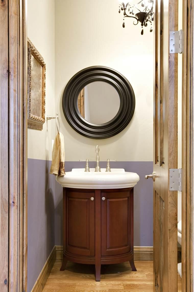 Armarios de ba o y muebles lavabo de madera 50 ideas for Lavabo mueble pequeno