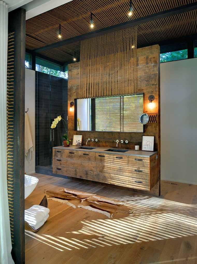 Ideas Baños Rusticos:lavabos rústicos banos combinacion moderno ideas